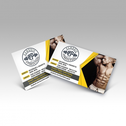 Classic Fitness Park - Business Card - Mockup