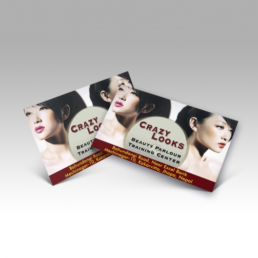 Crazy Looks Beauty Parlour - Business Card - Mockup