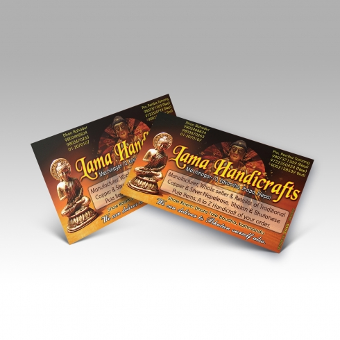 Lama Handicrafts - Business Card - Mockup