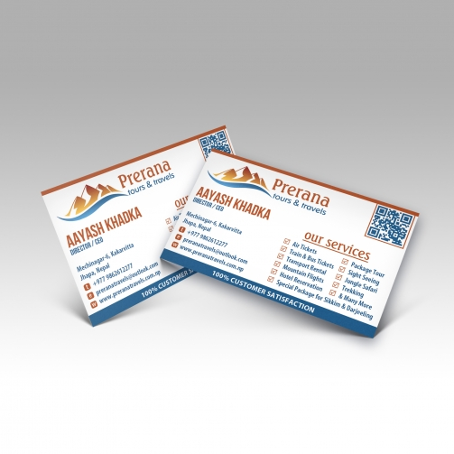 Prerana Tours & Travels - Business Card - Mockup